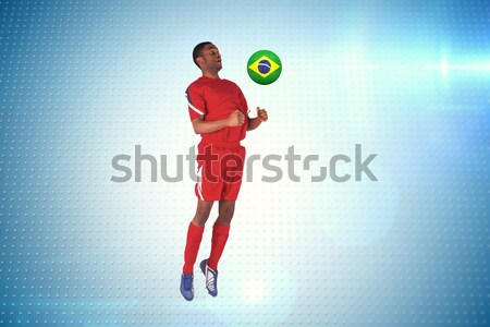 Composite image of sportsman playing volleyball Stock photo © wavebreak_media