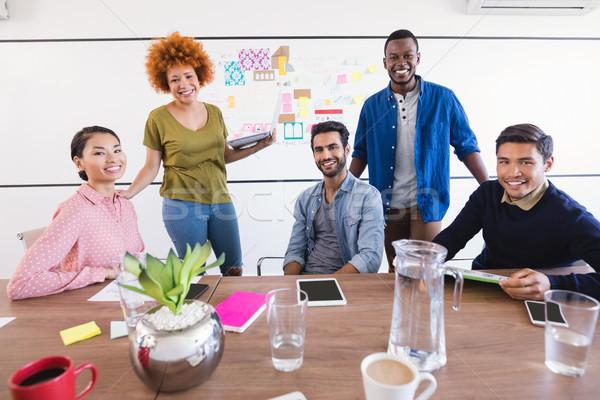 Portret zakenlieden bureau kantoor laptop Stockfoto © wavebreak_media