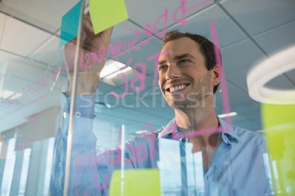 Erkek yürütme yazı ofis iş Stok fotoğraf © wavebreak_media