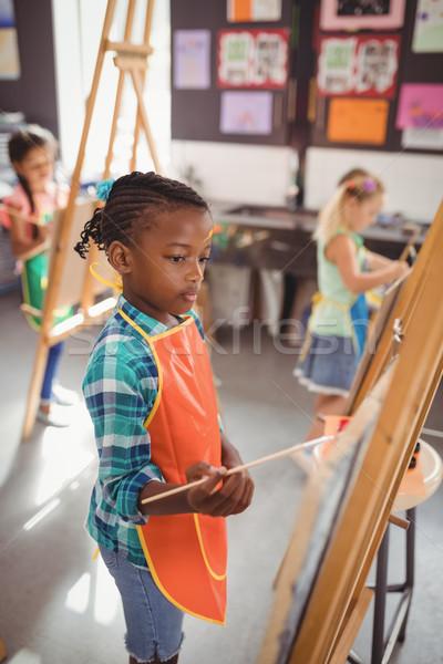 внимательный девушки холст рисунок класс Сток-фото © wavebreak_media