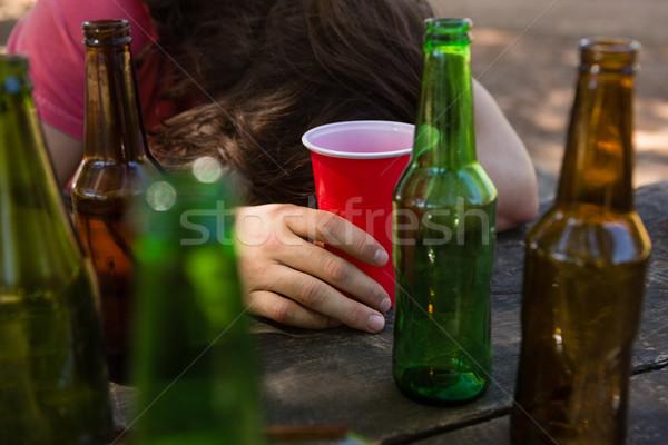 酔っ 男 表 ガラス ストックフォト © wavebreak_media