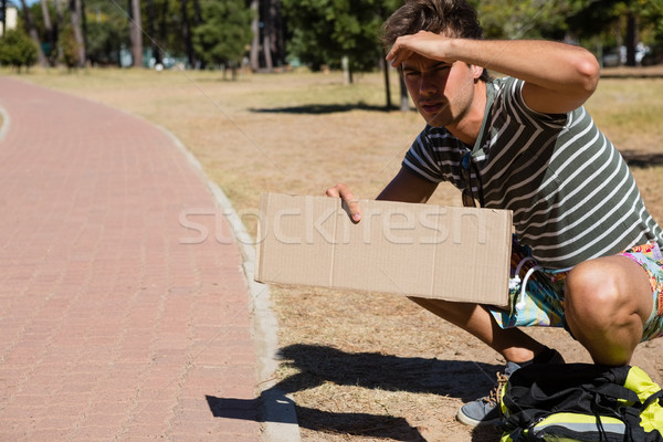 Człowiek przydrożny podróży komunikacji sam Zdjęcia stock © wavebreak_media
