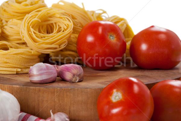 сырой помидоров чеснока лук белый продовольствие Сток-фото © wavebreak_media