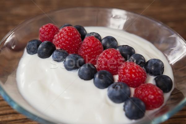Close-up of fruit ice cream in bowl Stock photo © wavebreak_media