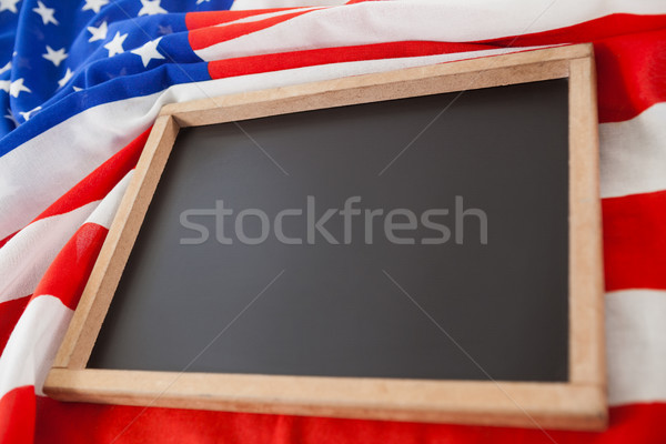 Bandeira americana mesa de madeira tabela azul bandeira Foto stock © wavebreak_media