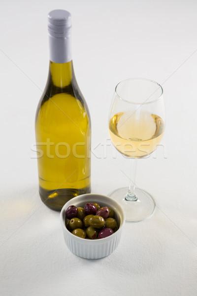 Marine zeytin cam şişe şarap Stok fotoğraf © wavebreak_media