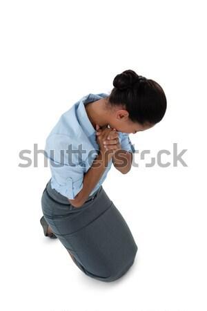 Imprenditrice bianco verde triste Foto d'archivio © wavebreak_media