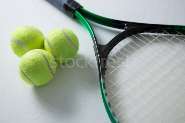 Tennis racket witte Stockfoto © wavebreak_media