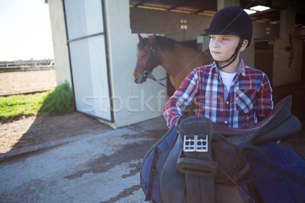 лошади оборудование стабильный Сток-фото © wavebreak_media