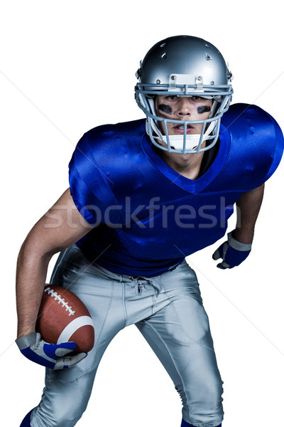 Portrait of American football player in uniform playing Stock photo © wavebreak_media