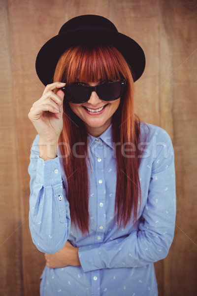 Smiling hipster woman posing face to the camera Stock photo © wavebreak_media