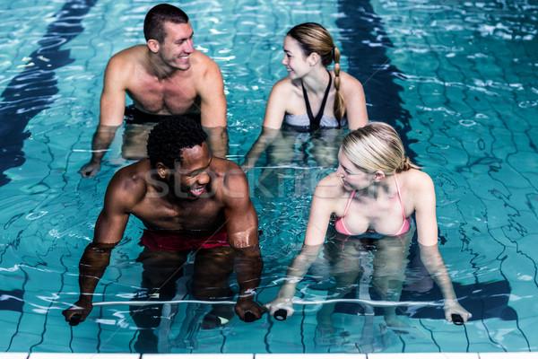 Montare persone ciclismo piscina giovani acqua Foto d'archivio © wavebreak_media