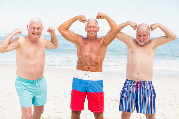 Senior men posing with their muscles Stock photo © wavebreak_media