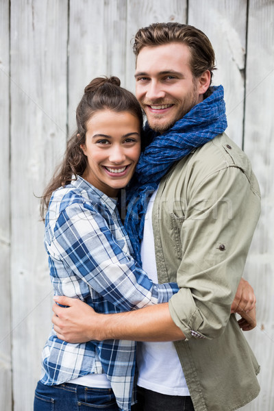 Young couple embracing each other Stock photo © wavebreak_media