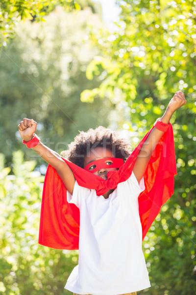 Erkek süper kahraman park doğa çocuk Stok fotoğraf © wavebreak_media