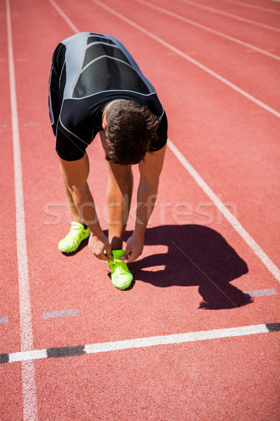 Masculino atleta sapato corrida seguir Foto stock © wavebreak_media