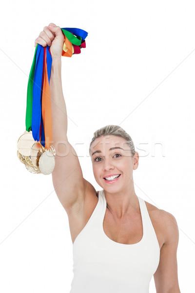 Heureux Homme athlète blanche Photo stock © wavebreak_media