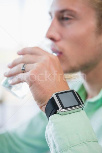 человека стекла воды ресторан Бар питьевой Сток-фото © wavebreak_media