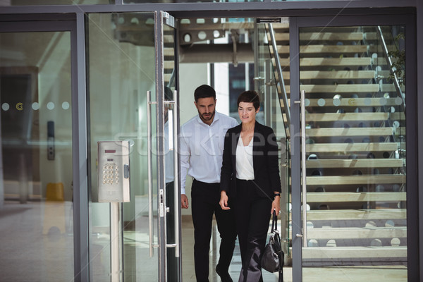 Businesspeople leaving office Stock photo © wavebreak_media