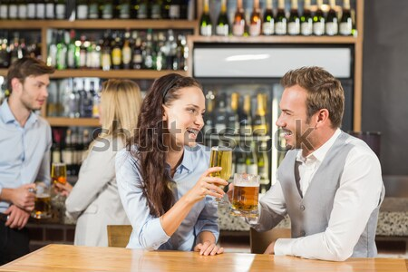 Mann tröstlich depressiv Freund bar Bier Stock foto © wavebreak_media