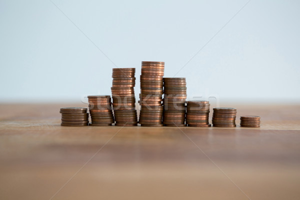 Close-up of stack of coins Stock photo © wavebreak_media