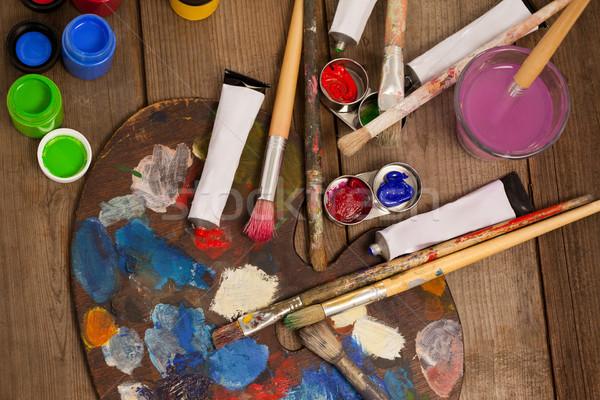 Paleta múltiplo cores aquarela pintar educação Foto stock © wavebreak_media