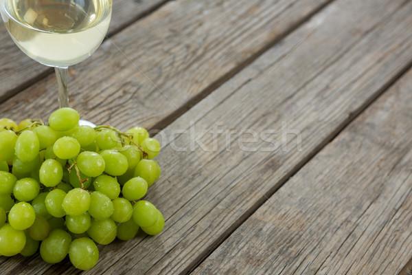 Primo piano verde uve vetro vino Foto d'archivio © wavebreak_media
