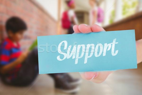 Wsparcia uczeń znajomych szkoły kobieta dziewczyna Zdjęcia stock © wavebreak_media
