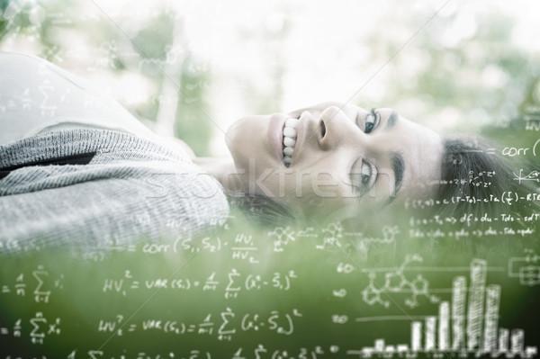 Imagen matemáticas bastante morena sol Foto stock © wavebreak_media