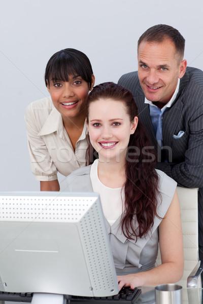 Parceiros de negócios computador negócio mulher Foto stock © wavebreak_media