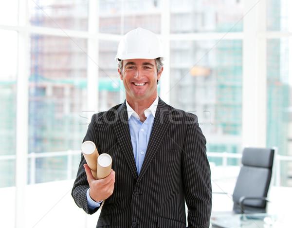 портрет элегантный мужчины архитектора служба строительство Сток-фото © wavebreak_media