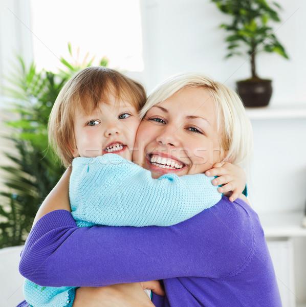 Attento madre piccolo figlia home Foto d'archivio © wavebreak_media