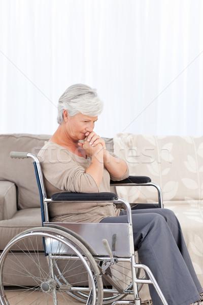 Altos silla de ruedas espacio ancianos reír Foto stock © wavebreak_media