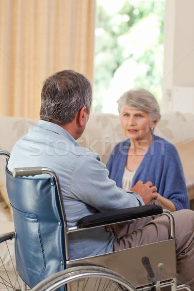 говорить гостиной домой медицинской здоровья Сток-фото © wavebreak_media