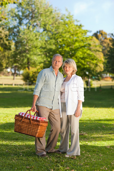 Retired couple looking for a place to picnicking  Stock photo © wavebreak_media