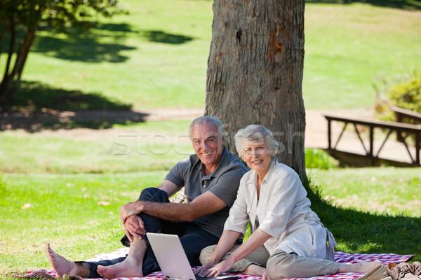 Starszy para ogród kobieta baby zdrowia starszych Zdjęcia stock © wavebreak_media