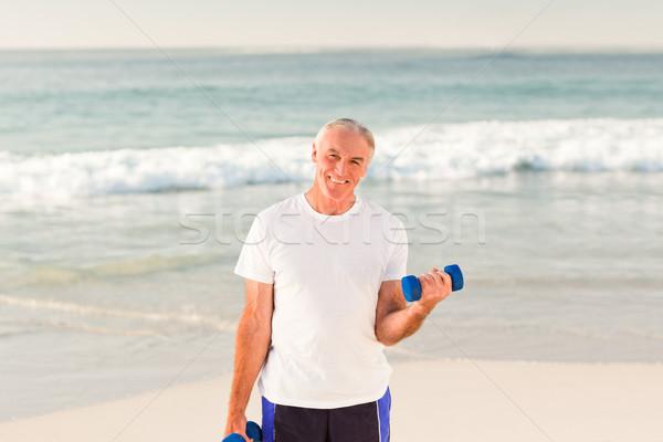 Senior man doing his exercises Stock photo © wavebreak_media