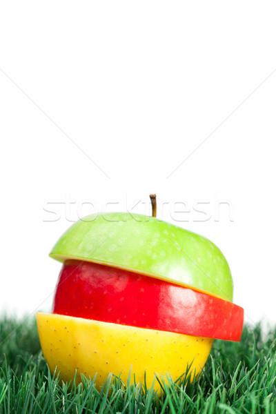組み合わせ 緑 黄色 赤 リンゴ 草 ストックフォト © wavebreak_media