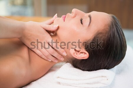 Pretty dark-haired woman getting a spa treatment lying down Stock photo © wavebreak_media
