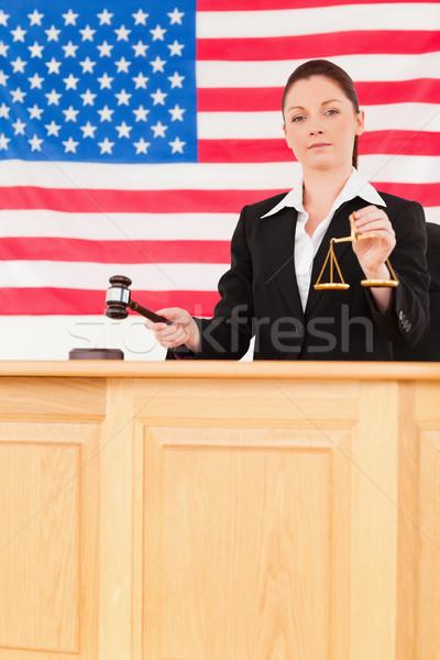 Jóvenes juez martillo escalas justicia Foto stock © wavebreak_media