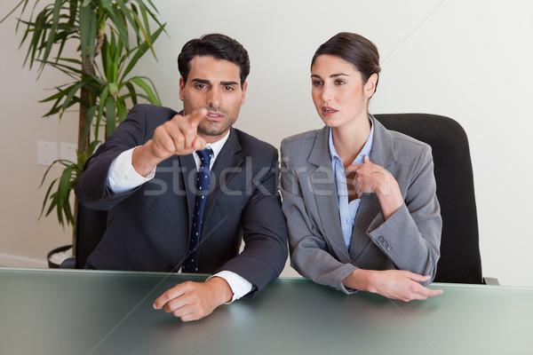 деловые люди конференц-зал заседание бизнесмен рабочих Сток-фото © wavebreak_media