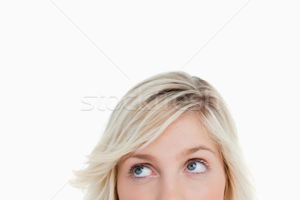 Yeux blanche visage lumière Photo stock © wavebreak_media