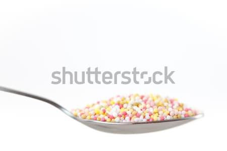 Veelkleurig lepel witte voedsel zoete Stockfoto © wavebreak_media