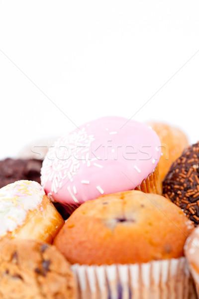 Kekler glasaj şekeri beyaz çikolata arka plan Stok fotoğraf © wavebreak_media