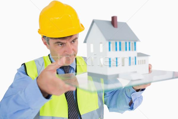 Architetto casa costruzione home vetro Foto d'archivio © wavebreak_media