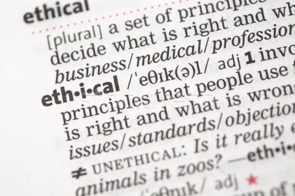Ethical definition Stock photo © wavebreak_media