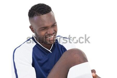 человека шее боль белый рук Сток-фото © wavebreak_media