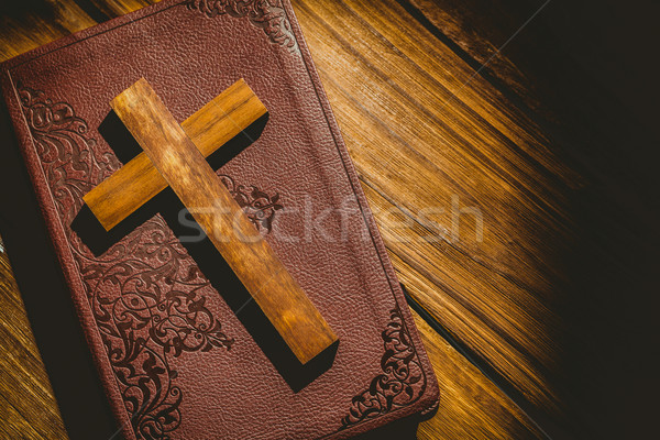 Stock photo: Crucifix icon on the bible