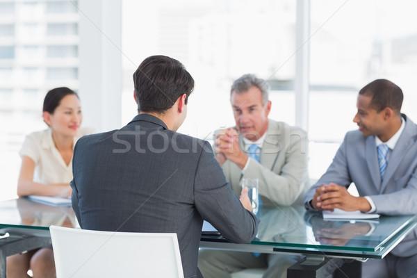 кандидат служба заседание бизнесмен костюм Сток-фото © wavebreak_media