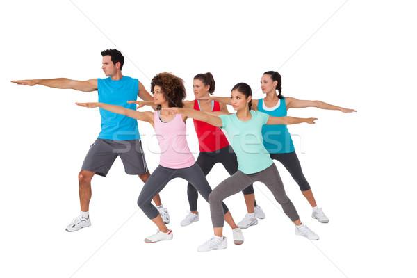 Fitness class doing stretching exercises Stock photo © wavebreak_media